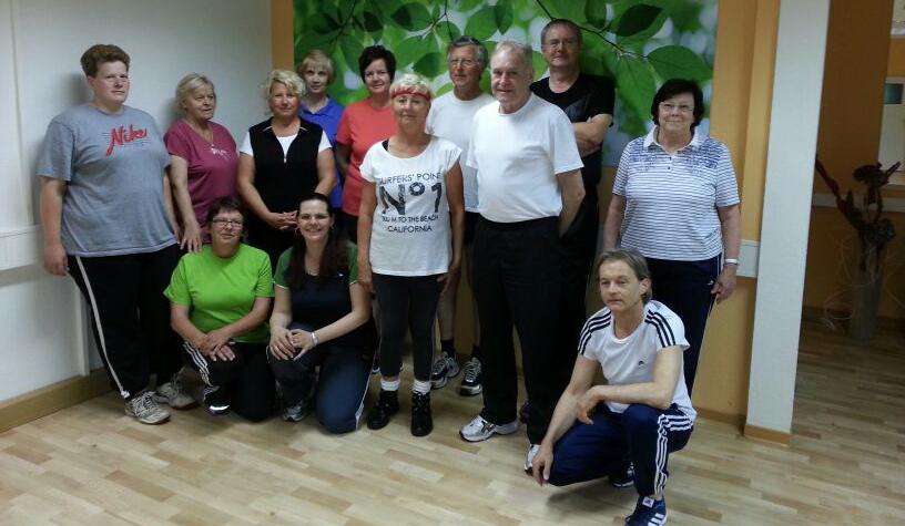 Gemeinsam statt einsam! Eine unserer Reha-Sport-Apolda-e.V.-Gruppen.